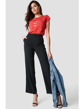 Highwaisted Straight Suit Pants by Na Kd