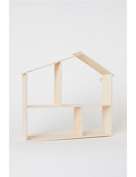 House Shaped Wooden Shelf by H&M