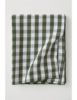 Checked Linen Blend Tablecloth by H&M