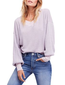 We The People By Free People South Side Thermal Top by Free People
