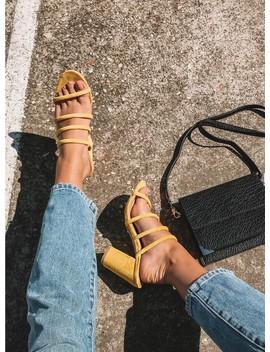 Billini Navo Heels Yellow Suede by Billini