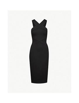 Cross Neck Jersey Dress by Karen Millen