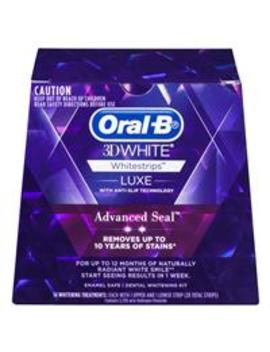 Oral B 3 D White Luxe Advance Seal 14 Whitening Treatments by Toothpaste