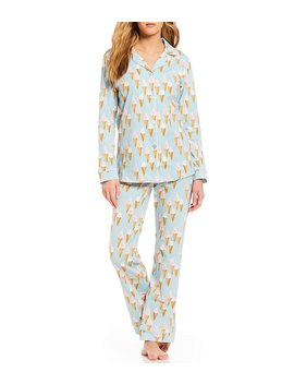 Soft Swirl Classic Knit Pajama Set by Generic