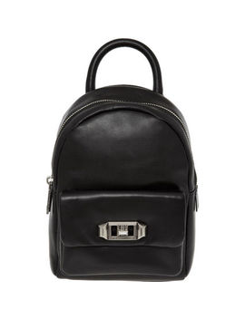 Black Leather Mini Backpack by Rebecca Minkoff