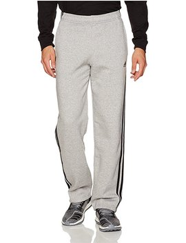 Adidas Men's Essentials 3 Stripe Regular Fit Fleece Pants by Adidas