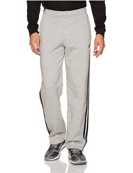 Adidas Men's Essentials 3 Stripe Regular Fit Fleece Pants by Adidas