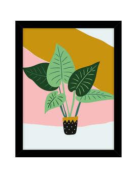 John Lewis Graphic Plant Pot Framed Print, 43.5 X 33.5cm by John Lewis