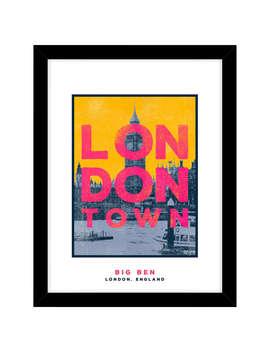 Jando   Big Ben, London Town Framed Print & Mount, 63.5 X 53.5cm by John Lewis