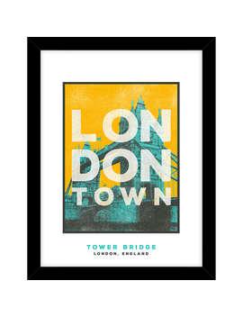 Jando   Tower Bridge, London Town Framed Print & Mount, 63.5 X 53.5cm by John Lewis