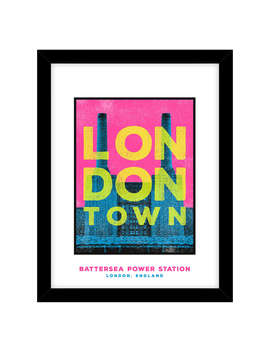 Jando   Battersea, London Town Framed Print & Mount, 63.5 X 53.5cm by John Lewis
