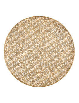 Libra Perforated Round Sculpture, Brass by Libra