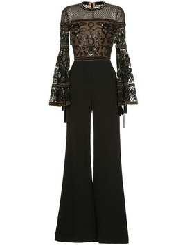 Elie Saabbell Sleeves Embellished Jumpsuithome Women Elie Saab Clothing Jumpsuits by Elie Saab