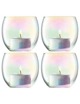 Lsa International Pearl Tealight Holder & Candles, Set Of 4 by Lsa International