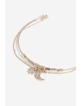 **Chain Charm Bangle by Topshop