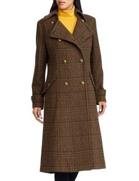 Gun Check Patterned Coat by Lauren Ralph Lauren