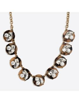 Tortoise Crystal Statement Necklace by J.Crew