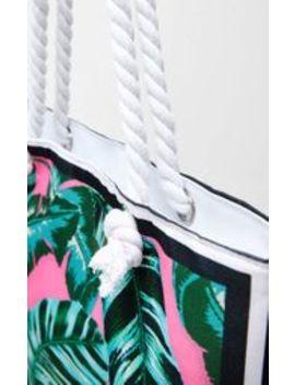 Pink Palm Leaf Beach Bag by Prettylittlething