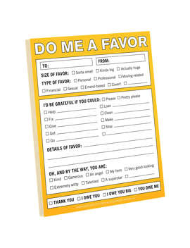 Knock Knock Do Me A Favour Notepad by Knock Knock