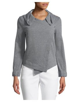 Hooded Blazer Style Sweatshirt by Neiman Marcus