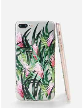 Grass & Flower Print I Phone Case by Sheinside