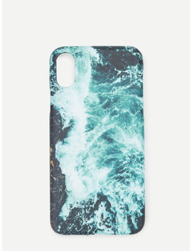 Waves Print I Phone Case by Sheinside