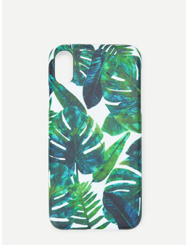 Leaf Print I Phone Case by Sheinside