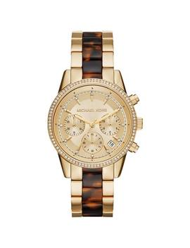 Michael Kors Women's Ritz Chronograph Gold Dial Two by Michael Kors