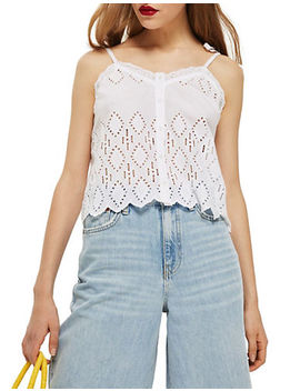Broderie Cami by Topshop