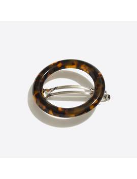 Tortoise Circle Barrette by J.Crew
