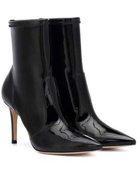 Imogen Vinyl Ankle Boots by Gianvito Rossi