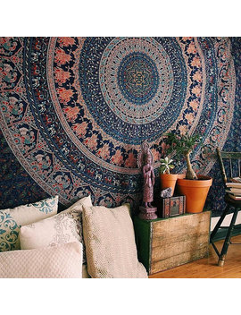 Tapestry Wall Hangings Hippie Mandala Bohemian Psychedelic Indian Bedspread Magical Thinking Tapestry by Ganpati Enterprises