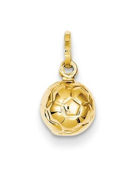 14k 3 D Soccer Ball Charm by Best Price Product