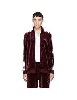 Maroon Velour Bb Track Jacket by Adidas Originals