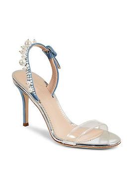 Pearl Embellished Open Toe Heels by Giuseppe Zanotti