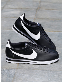 Nike Women Black Solid Classic Cortez Leather Sneakers by Nike