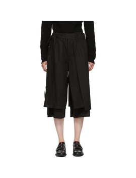 Black Layered Track Trousers by Craig Green