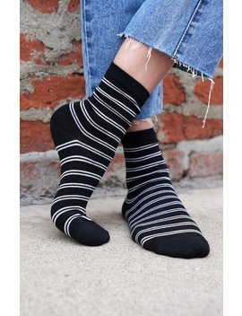 Striped Crew Socks by John Galt
