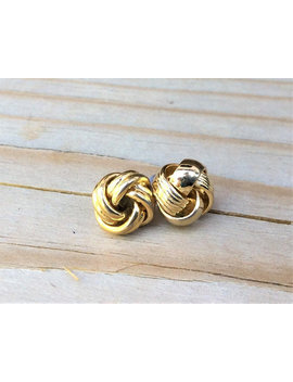 Vintage Earrings Gold Vintage Earrings  Vintage Post Earrings Vintage Friendship Knot Earrings Vintage Knot Earrings Friendship Knot Earring by Bling4 All Seasons