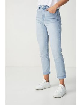 High Rise 90 S Stretch Denim Jean by Cotton On