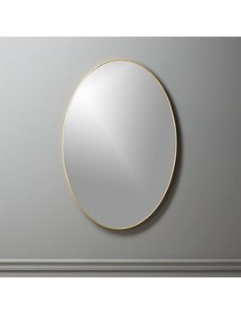 "Infinity Brass Oval Wall Mirror 24""X36"" by Crate&Barrel"