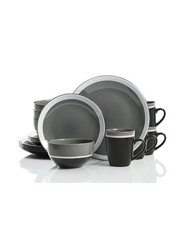Studio California Color Eclipse 16 Piece Stoneware Dinnerware Set, Grey by Studio California
