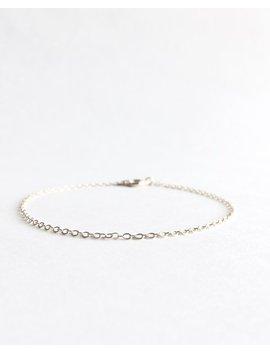 Simple Dainty Bracelet, Plain Silver Thin Bracelet, Thin Chain Bracelet, Delicate Simple Silver Layering Bracelet, Dainty Chain Bracelet by Ivolvebeauty