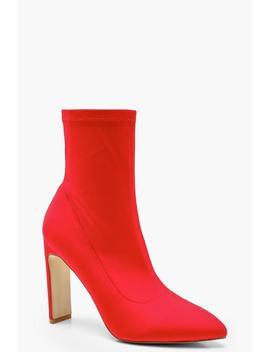 Flat Heel Sock Boots by Boohoo