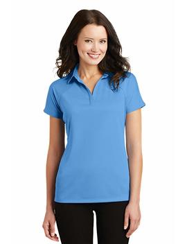 Port Authority L575 Ladies Crossover Raglan Polo by Port Authority