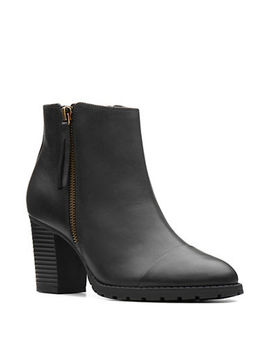 Verona Leather Booties by Clarks
