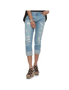 Women's Jennifer Lopez Ripped Midrise Boyfriend Jeans by Kohl's