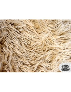 Mongolian Faux Fur Camel Fabric by Fabric Empire