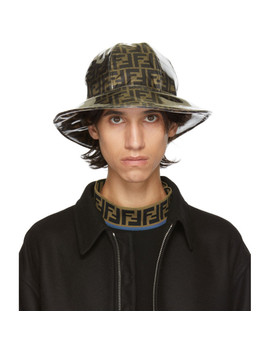Tan & Brown Bucket Hat by Fendi