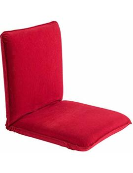Sundale Outdoor Indoor Adjustable Soft Brushed Polyester Cord Five Position Multiangle Floor Chair, Red by Sundale Outdoor